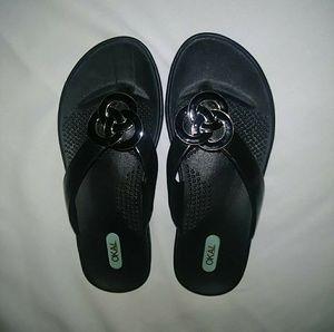 Okab Black Sandals Size SMALL